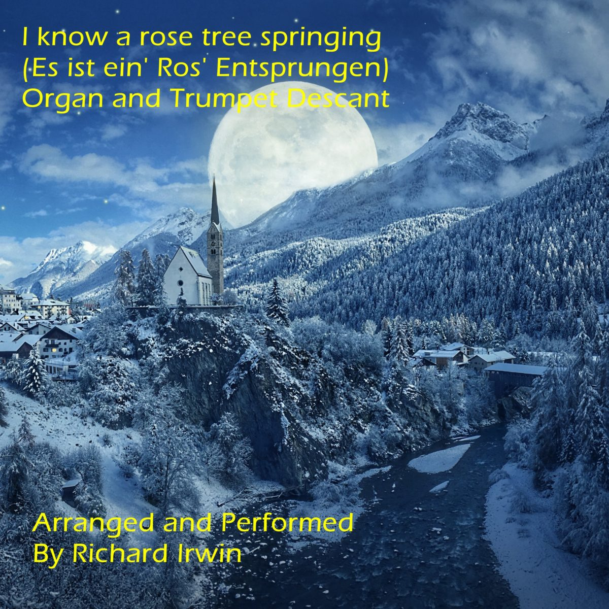 I Know A Rose Tree Springing (Es Is Ein Ros Entsprungen – 3 Verses) – Organ & Trumpet Descant