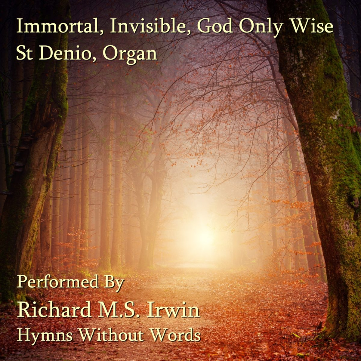 Immortal Invisible God Only Wise (Saint Denio, Organ, 4 Verses)