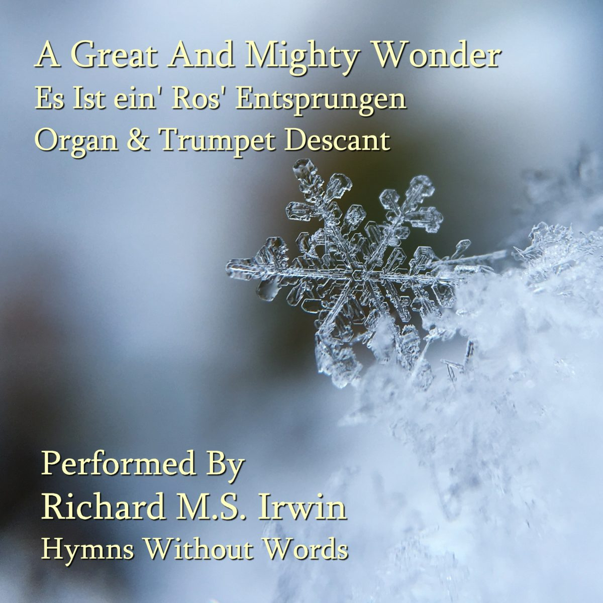 A Great And Mighty Wonder (Es Ist Ein Ros Entsprungen – 4 Verses) – Organ & Trumpet Descant